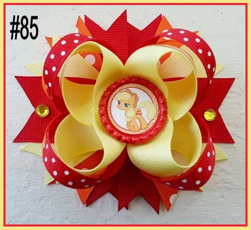 CHARACTER BOTTLE CAP HAIR BOWS - #85 - Sequins 'n Seashells Boutique