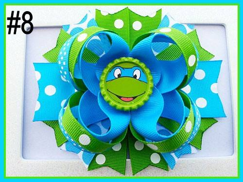 CHARACTER BOTTLE CAP HAIR BOWS - #8 - Sequins 'n Seashells Boutique