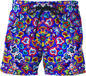 Fractal Fruit Swim Shorts - Sequins 'n Seashells Boutique