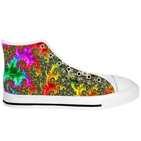Rainbow Fractal High Tops
