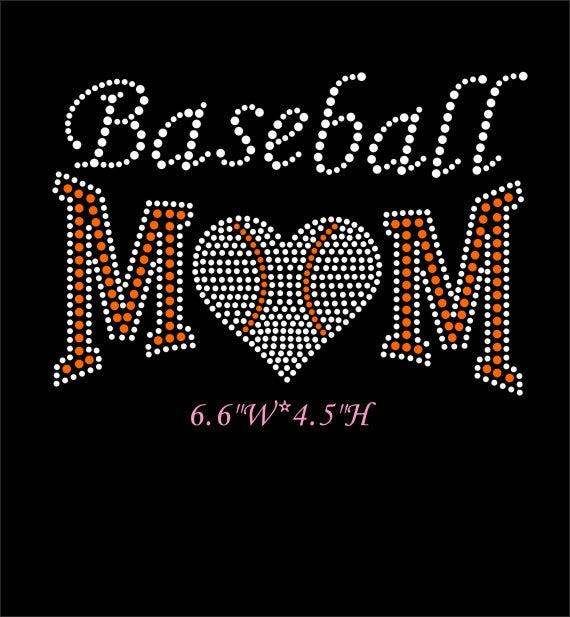 RHINESTONE TRANSFER - BASEBALL MOM - Sequins 'n Seashells Boutique