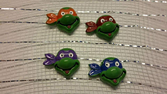 FLAT BACK RESINS - TMNT - 4 COLORS - Sequins 'n Seashells Boutique