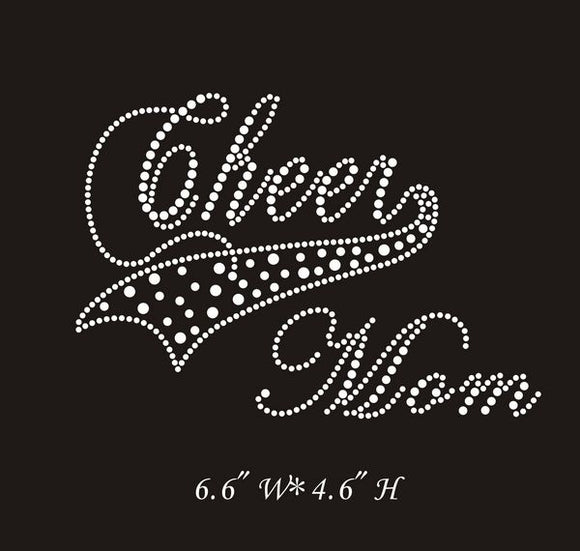 RHINESTONE TRANSFER - CHEER MOM - Sequins 'n Seashells Boutique