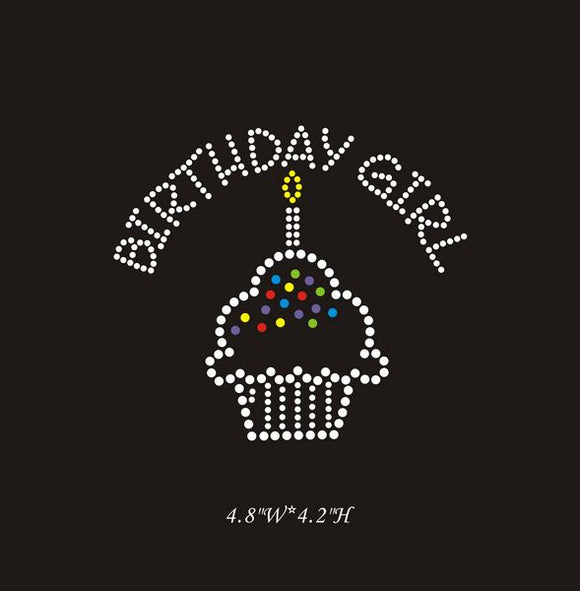 RHINESTONE TRANSFER - BIRTHDAY GIRL - Sequins 'n Seashells Boutique