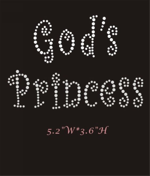 RHINESTONE TRANSFER - GOD'S PRINCESS - Sequins 'n Seashells Boutique