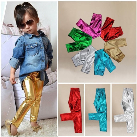 GIRLS SHINY LEGGINGS - Sequins 'n Seashells Boutique