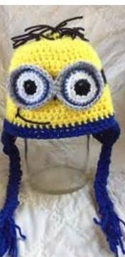 CROCHET HAT -   MINIONS - KEVIN, DAVE, PHIL - Sequins 'n Seashells Boutique