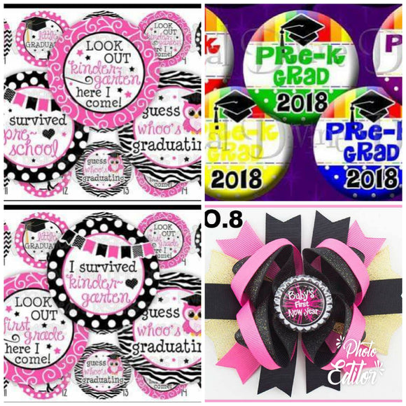 PRE-ORDER - CHOOSE YOUR SAYING BOTTLE CAP BOWS - CLOSES 04/05