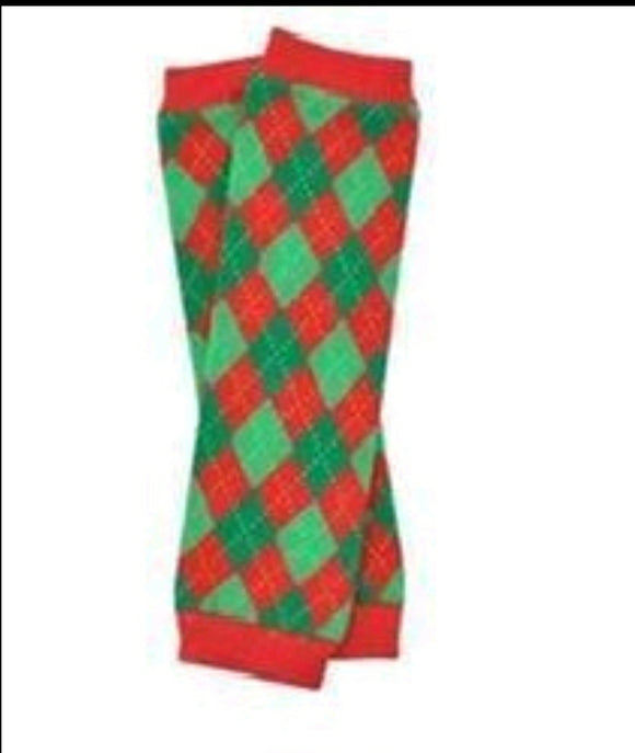 LEG WARMERS - CHRISTMAS ARGYLE - Sequins 'n Seashells Boutique