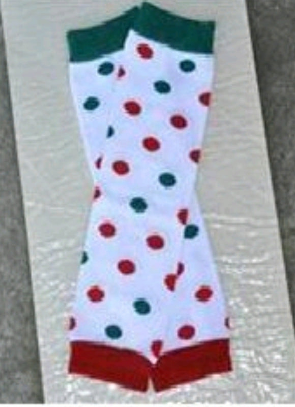 LEG WARMERS - CHRISTMAS POLKA DOT - Sequins 'n Seashells Boutique