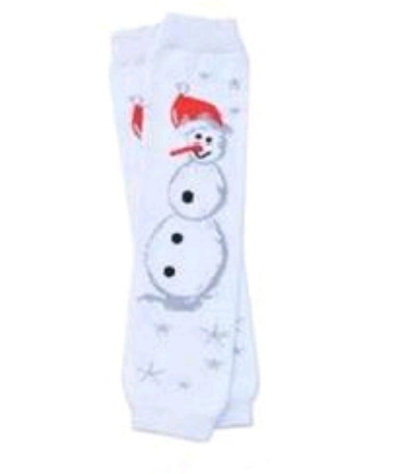 LEG WARMERS - CHRISTMAS SNOWMAN FULL BODY - Sequins 'n Seashells Boutique