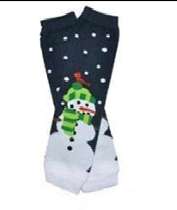 LEG WARMERS - CHRISTMAS BLUE SNOWMAN - Sequins 'n Seashells Boutique