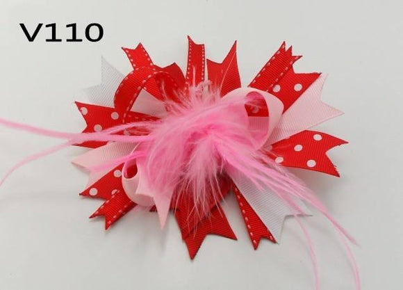 VALENTINES DAY BOW V110 - Sequins 'n Seashells Boutique