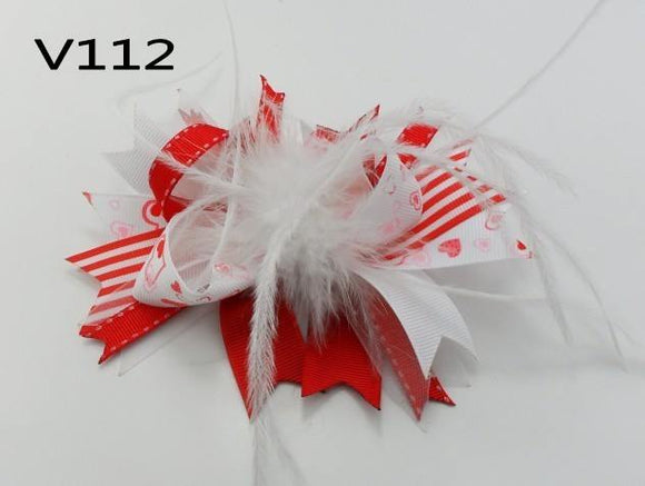VALENTINES DAY BOW V112 - Sequins 'n Seashells Boutique
