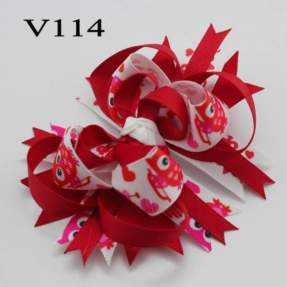 VALENTINES DAY BOW V114 - Sequins 'n Seashells Boutique