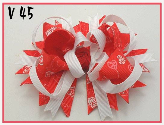 VALENTINES DAY BOW V45 - Sequins 'n Seashells Boutique