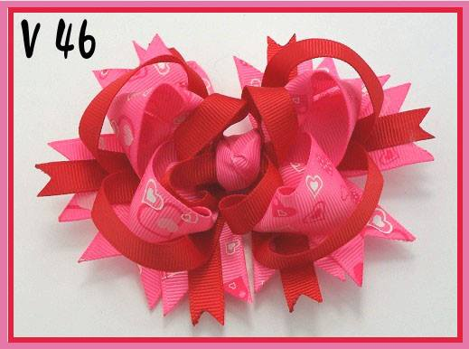 VALENTINES DAY BOW V46 - Sequins 'n Seashells Boutique