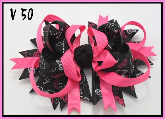 VALENTINES DAY BOW V50 - Sequins 'n Seashells Boutique