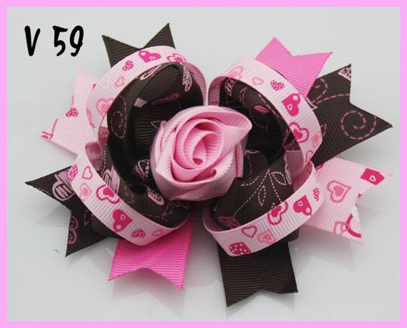 VALENTINES DAY BOW V59 - Sequins 'n Seashells Boutique