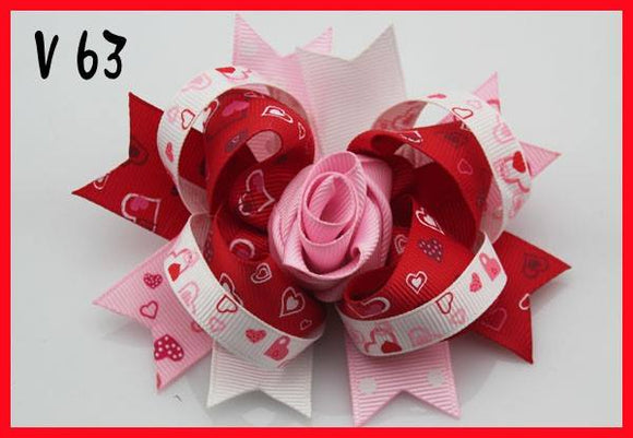 VALENTINES DAY BOW V63 - Sequins 'n Seashells Boutique
