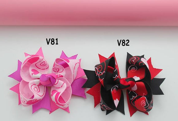 VALENTINES DAY BOW V81 & V82 - Sequins 'n Seashells Boutique