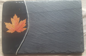 Slate Maple Leaf Cheese Board