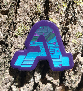 """A"" Tech Logo x Purp/Blue"