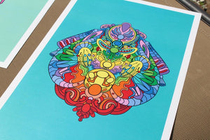 Langley Osborn x Chakra Monster Prints