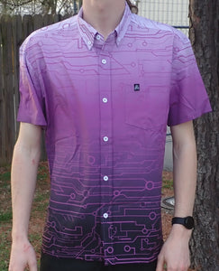 The Artistry x Tech Button-Up (Purple/Black)