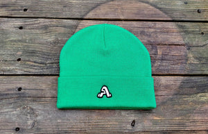 """A Tech"" Logo Beanie (Green)"