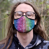 "Pepelen x ""Synthropic Lattice"" Face-Mask (Rainbow)"