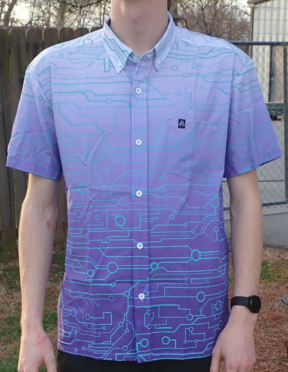 The Artistry x Tech Button-Up (Purple/White)