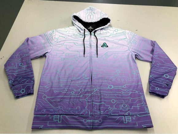 The Artistry x Tech Hoodie (Purple x White)