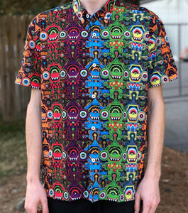 "Incedigris x ""Spectrum Sprites"" Button-Up"