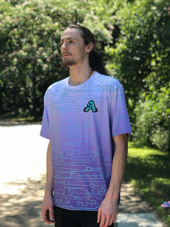 Artistry x Tech Logo Tee (Light Purp x Fade)
