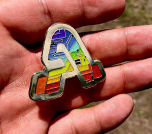 """A"" Tech Logo x Gold/Rainbow OE"