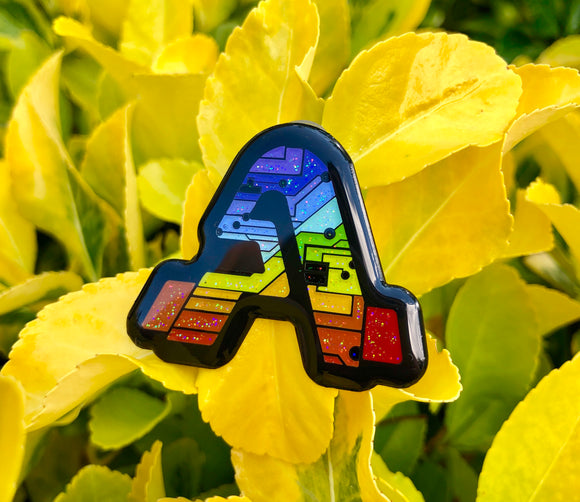 """A"" tech logo x Rainbow"