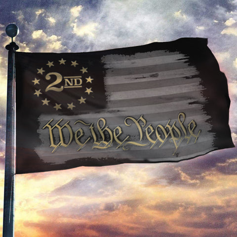 We The People - Gold - 2nd Amendment Flag