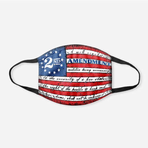 This Well Defend 2nd Amendment Vintage American Flag - Cotton Face Cover - 4 Pack Bundle