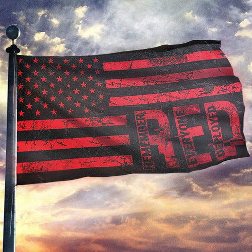 Remember Everyone Deployed American Flag