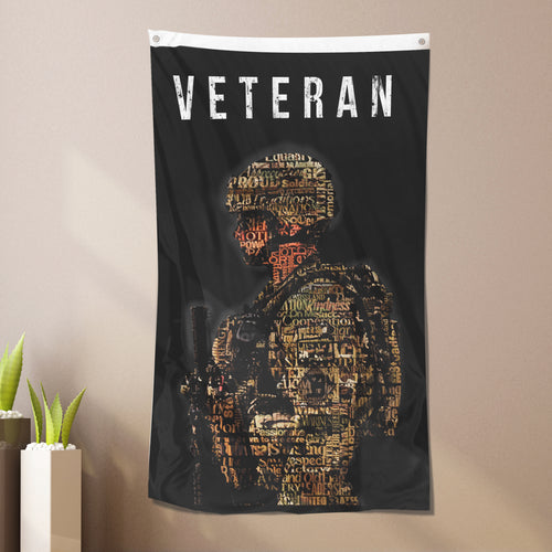 Live Up To A Higher Standard Veteran - Flag