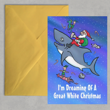 Load image into Gallery viewer, I'm Dreaming Of A Great White Christmas - Christmas Card