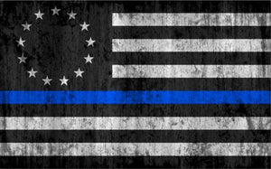 Thin Blue Line Betsy Ross Flag - Blue Lives Matter Flag