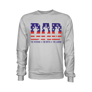 Dad The Veteran The Myth The Legend - Apparel of Men's Shirt, Sweatshirt, Hoodie and Tank Top