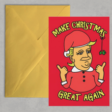 Load image into Gallery viewer, Trump Make Christmas Great Again Card