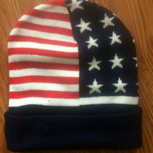 Load image into Gallery viewer, Trump 2020 Winter Keep America Great Red White and Blue Soft Hat Beanie