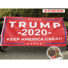 Load image into Gallery viewer, Keep America Great Trump 2020 Red - Flag with Trump 2020 Camo Hat - Bundle