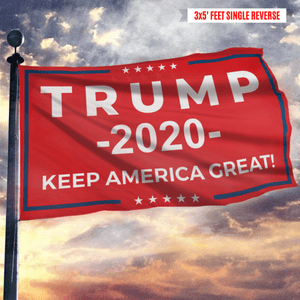 Keep America Great Trump 2020 - Red - Flag