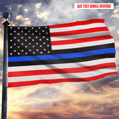 Blue Lives Matter Honoring Law Enforcement Officers Blue Thin Line Flag