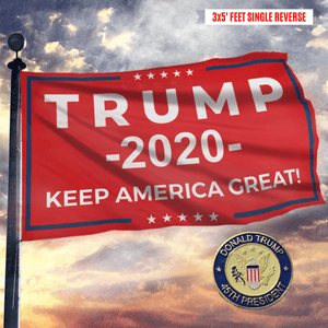 Keep America Great Trump 2020 - Red - Flag - 45th President Pin - Flag Pin Bundle
